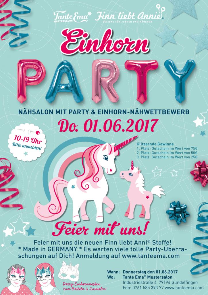 Einladung zur Einhorn-Party
