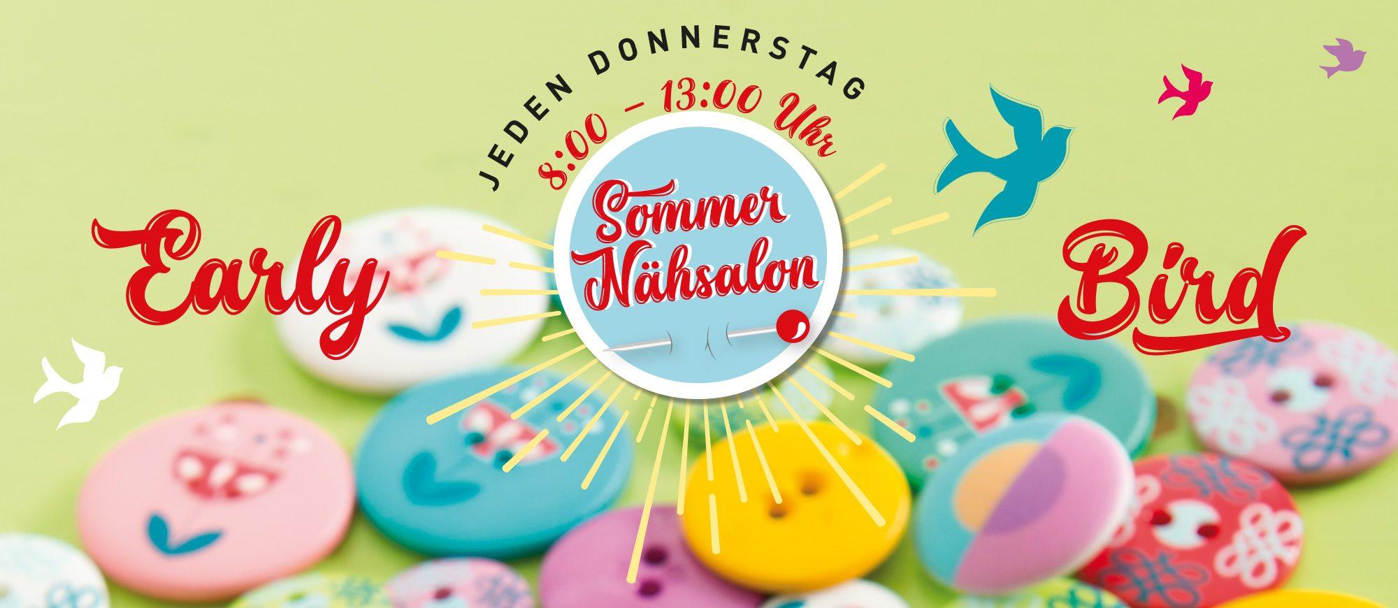 Sommer-Nähsalon von 8-13 Uhr, bis August