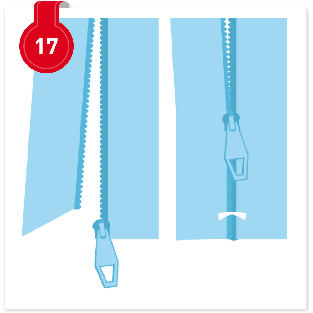 Nähvokabel Nr. 17: Einfädeln von Endlosreißverschluss