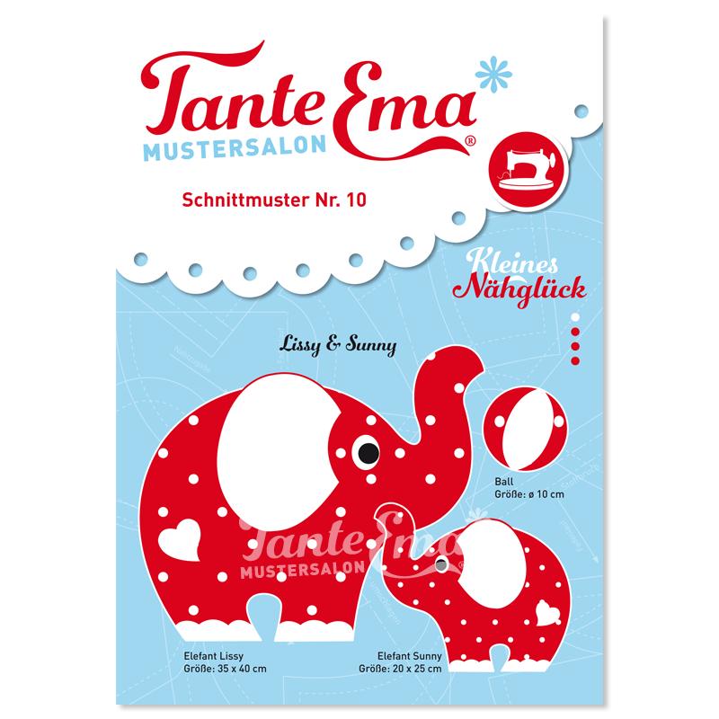 Tante Ema® Kleines Nähglück, Schnittmuster Nr. 10, Lissy & Sunny