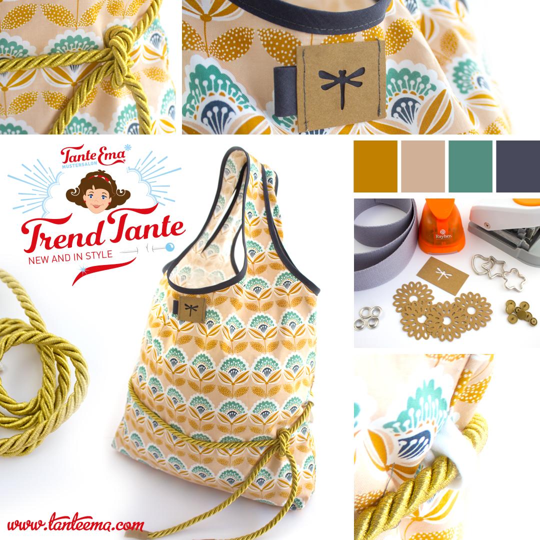 Gold Kordel mit Tasche