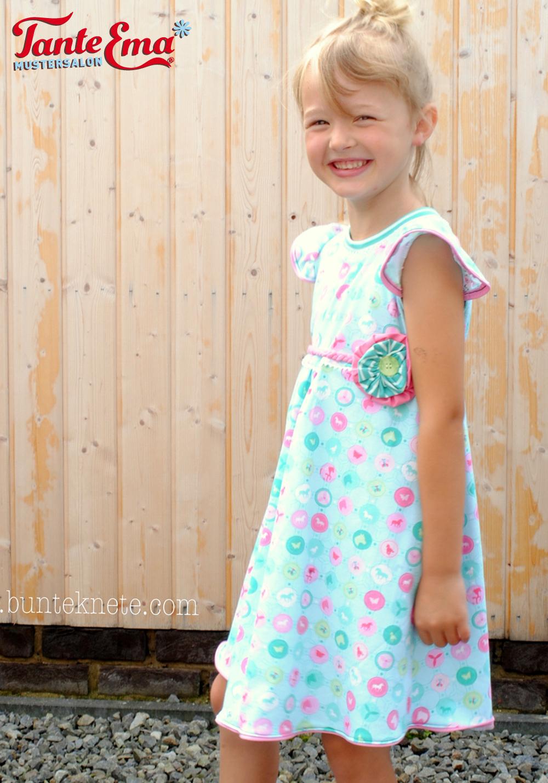 Probenähen für Tante Ema® Kinderkleid mit Flügelärmel und Finn liebt Annie