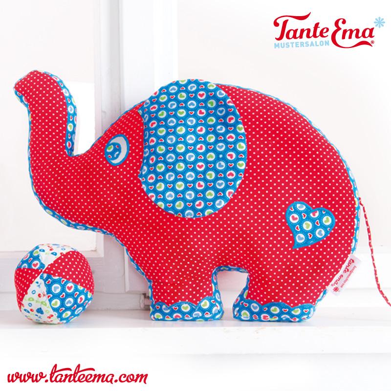 Tante Ema® Schnittmuster Elefant Lissy & Sunny