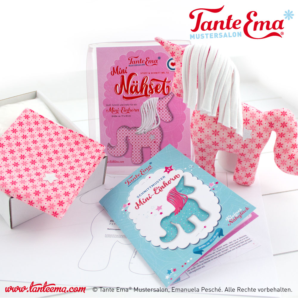 Tante Ema® Nähset Nr. 12 Mini Einhorn